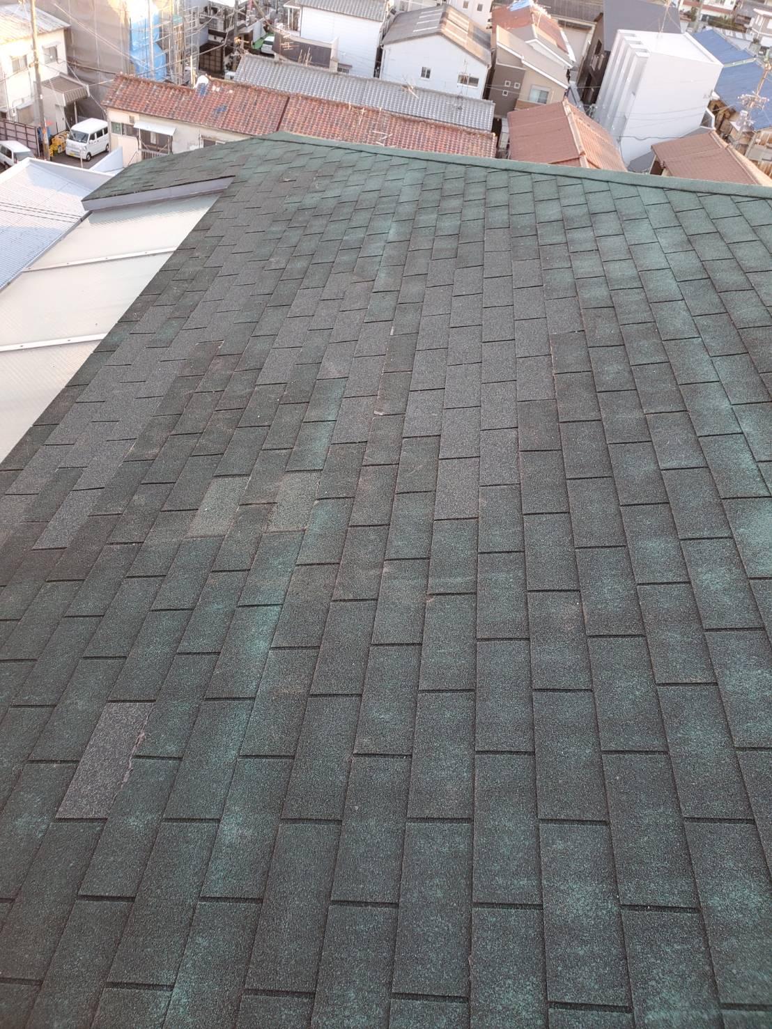 屋根の補修完了①