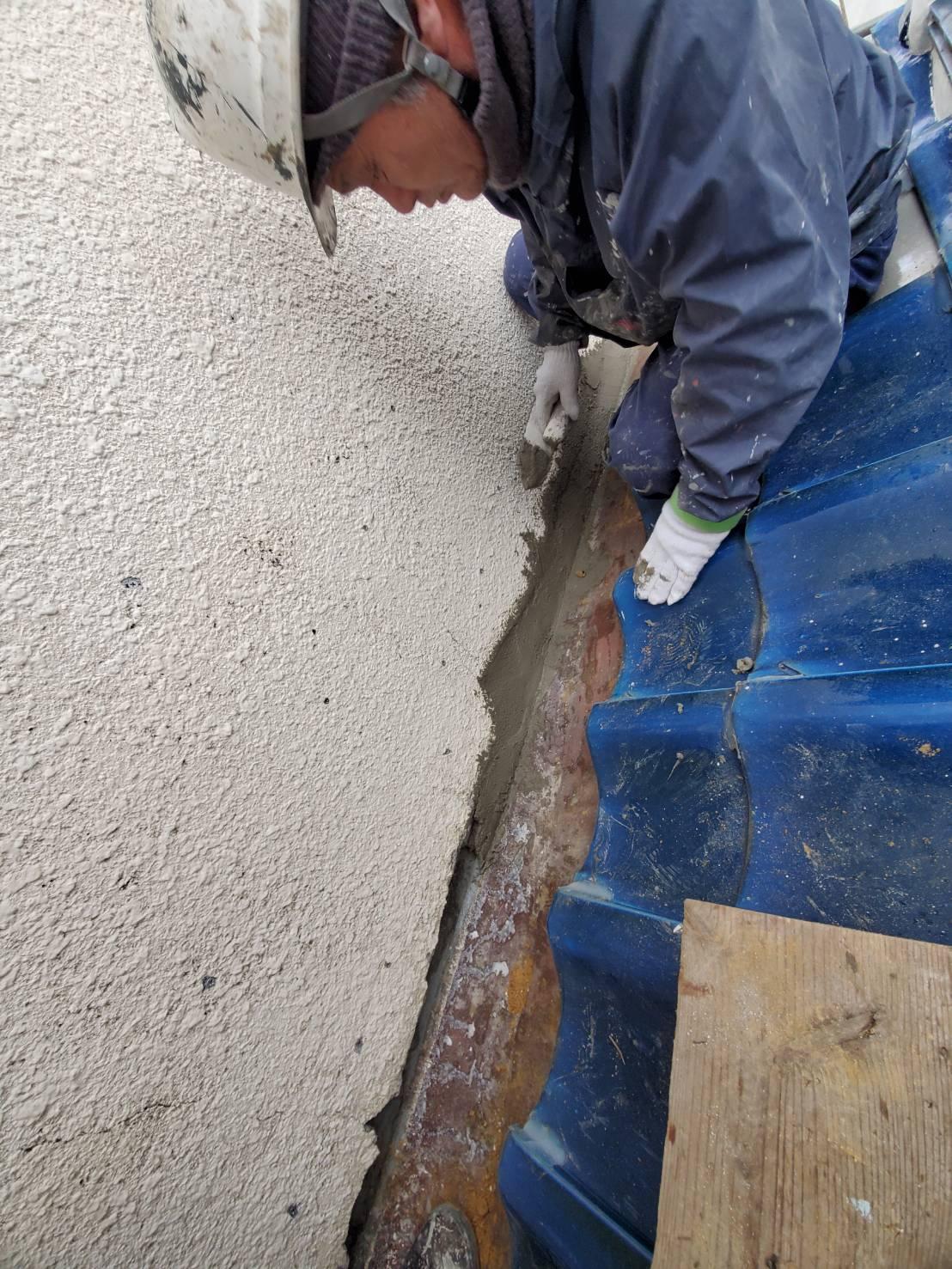 外壁補修の前①