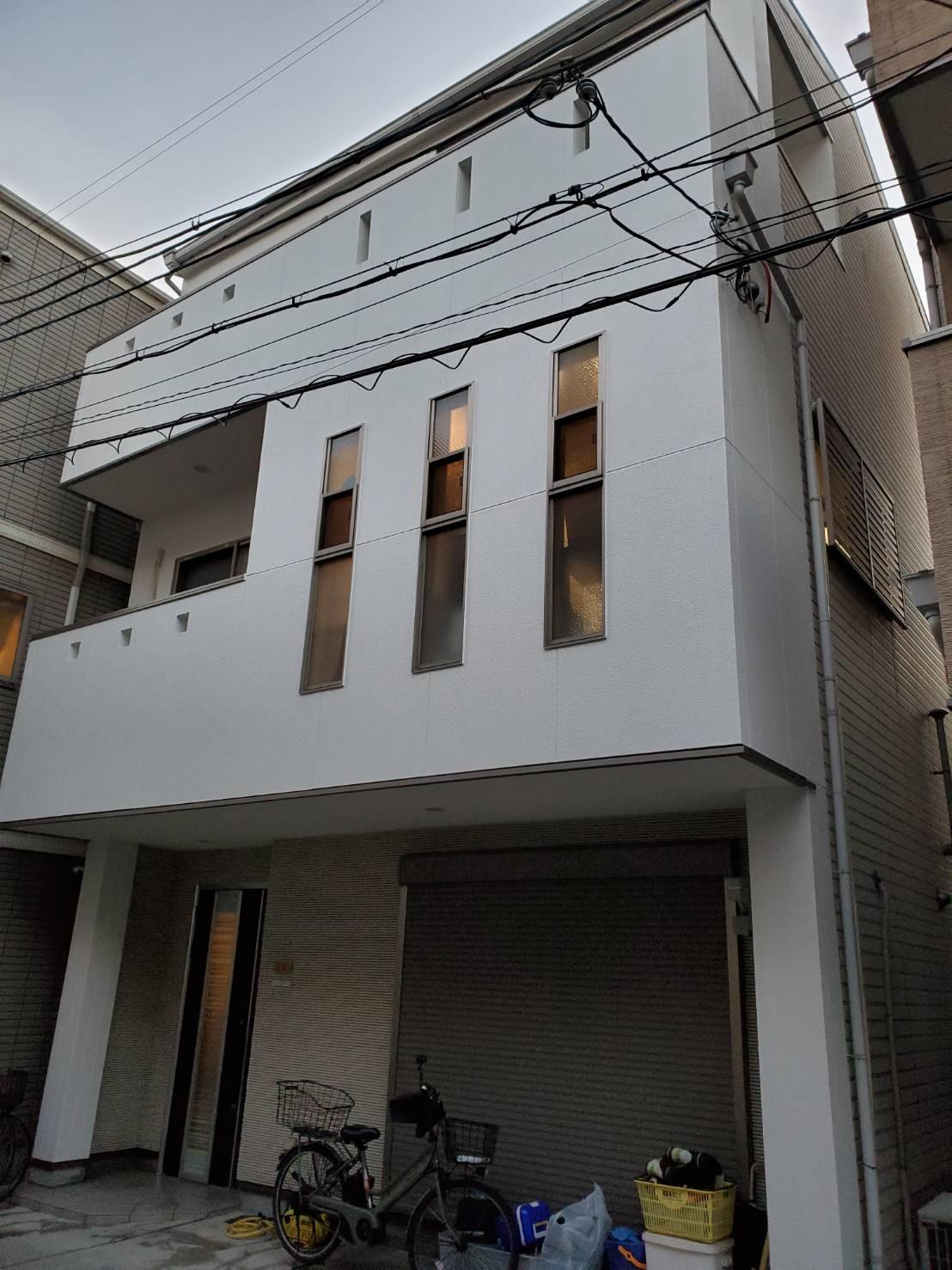 外壁塗装の工事完了